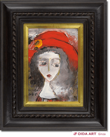 Oda Hiroki Girl wearing a red hat (yellow floral decoration)