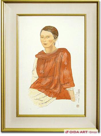 平山郁夫 カシミールの女性 | 絵画など美術品の販売と買取 | 東京 ...