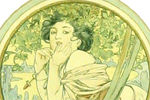 Mucha Maria Alphonse Dinner party menu of Mr.CAMILLE PELLETAN